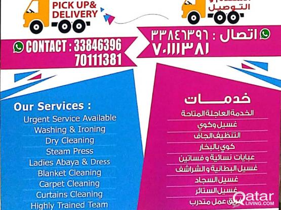 Laundry Services 24 hrs Open Free pickup & Delivery