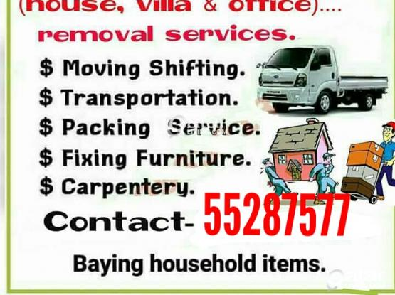 WE DO LESS PRICE   Moving shifting Carpenter transport services please call me -55287577