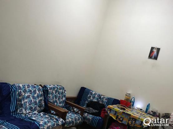 Semi furnished rooms available near Dar Al Salam Mall at Abu Hamour