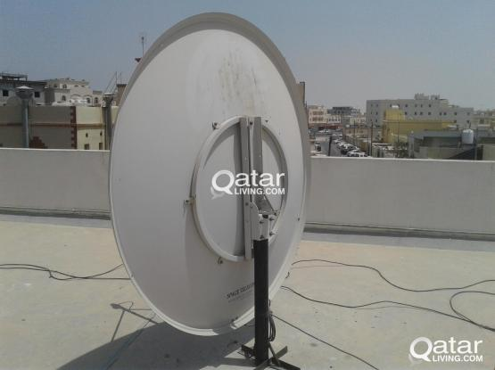 AIRTEL HD DTH RECEIVER, REMOT AND BIG DISH ANTENNA