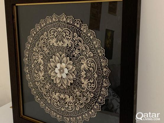 Floral Calligraphy wall art