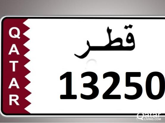 PLATE NUMBER FOR SALE  5DIGIT # 13250