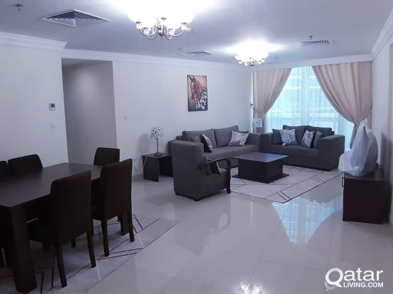 Brand new 2 beds fully furnished apartment west bay include Qatar cool