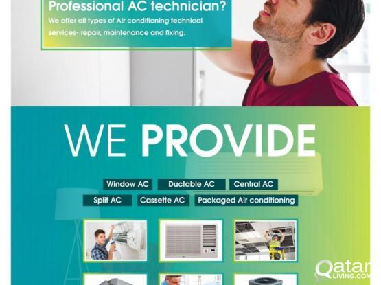 AC SERVICE INSTALLATION AND MAINTENANCE PLEASE CALL  74432329