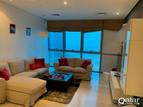 F/F 2BR+Maid Flat For Rent In Zigzag Tower