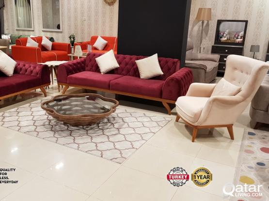 New turkish furniture one year warranty