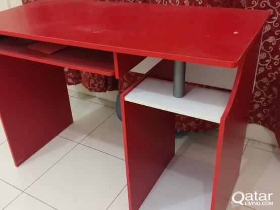 Red Computer Table