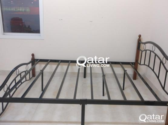 Metal Double Cot With Mattress