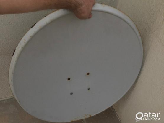 SATELLITES DISH with LNB&Wire طبق دش 70 مع اللاقط والسلك
