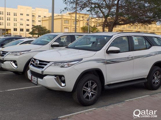 TOYOTA FORTUNER 2019 MODEL AVAILABLE FOR RENT CALL 50399151/44182020