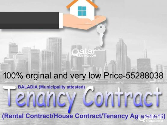 55288038- 100% Baladiya(Municipality Attested) Tenancy Contract For Family Visa/Health Card