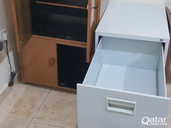 Wooden and Steel cabinets