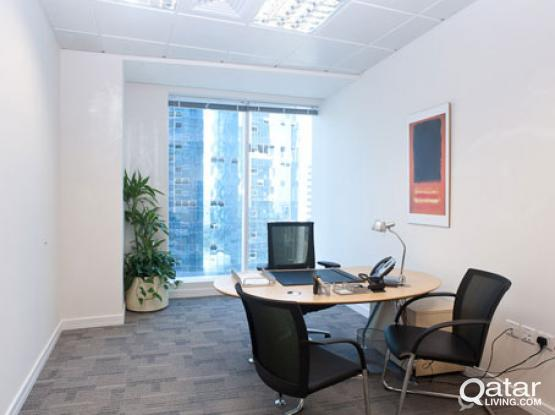 RAMADAN SPECIAL - FULLY SERVICED OFFICE IN THE ICONIC ALFARDAN TOWERS WEST BAY