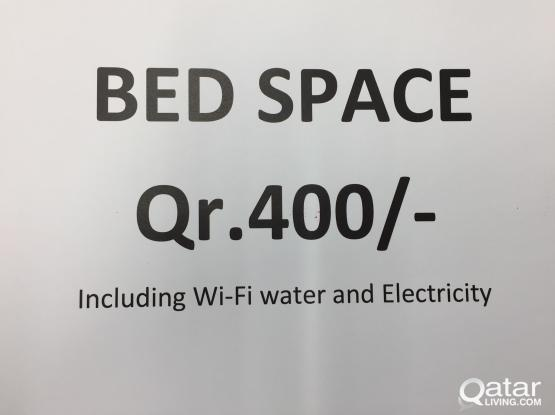 Bed space including All wi-fi electricity