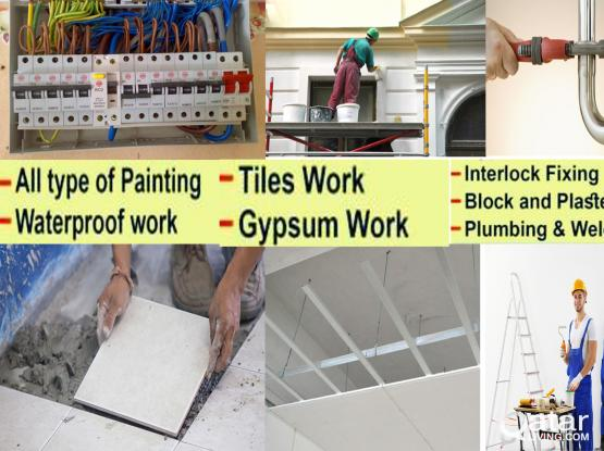 PLUMBING +974 66887822 ELECTRICAL GYPSUM BOT ALL MAINTENANCE