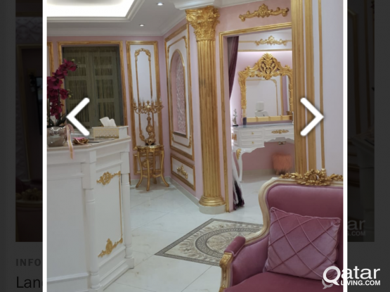 Fully furnished salon for rent