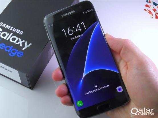 Galaxy S7 Edge 32GB Black Duos with all Accessories.