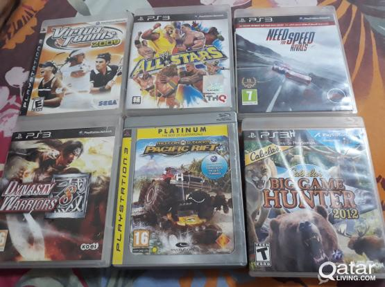 PS3 GAMES FOR SALE (6 GAMES)