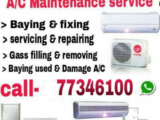 (Best price) A/C sell window & split services & Gas, Buying used a/c 77346100