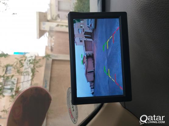 5 inch car screen with camera and sensors