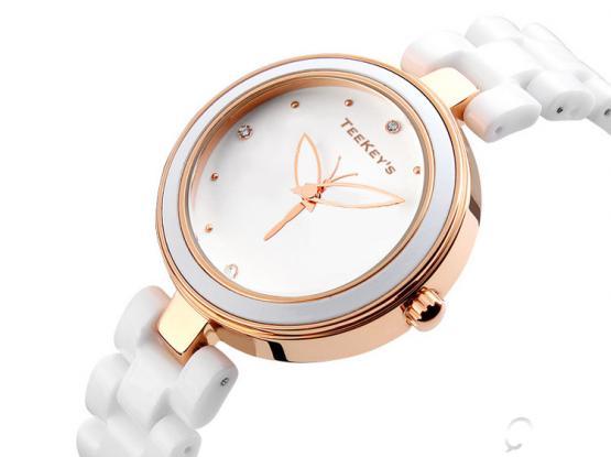 TEEKEY'S TK9131 Luxury Brand Ceramic Fashion Quartz Women Watch