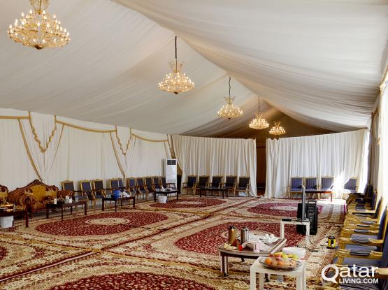 Consolation Tents (Funeral Tents) for Rent (خيام الجنازة للايجار