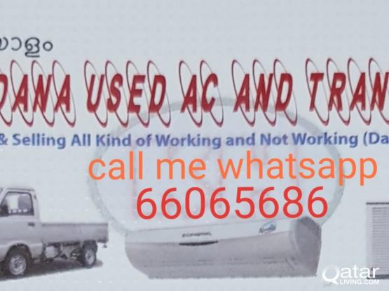 Buying and selling and repair maintenance Used AC please call 66065686