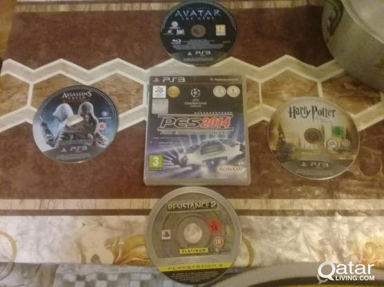 5 DVD GAMES PS3