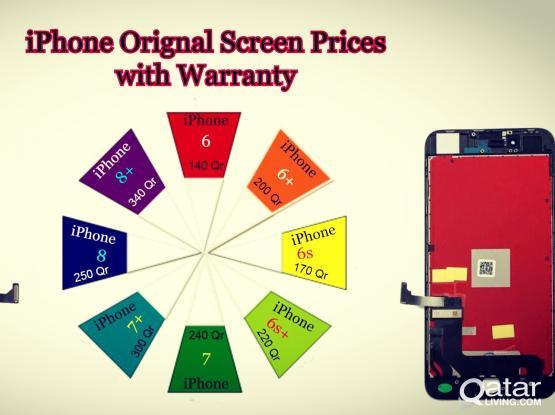 iPhone Original screen with warranty.