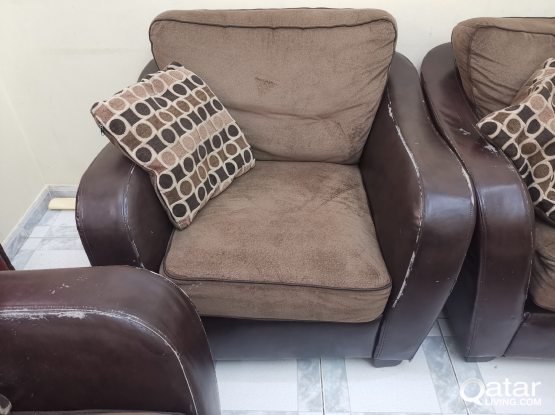 6 seater (3+2+1) sofa in good condition for sale