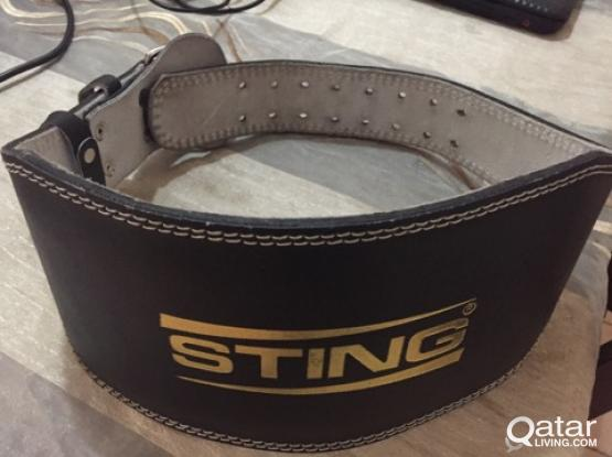 Brand New Sting Leather Weight Lifting Belt