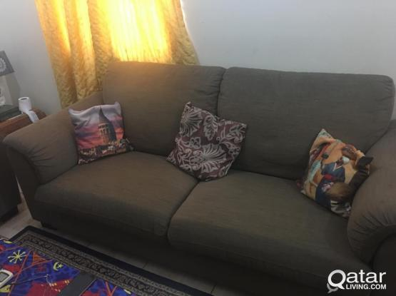 2 IKEA sofa 3 seater