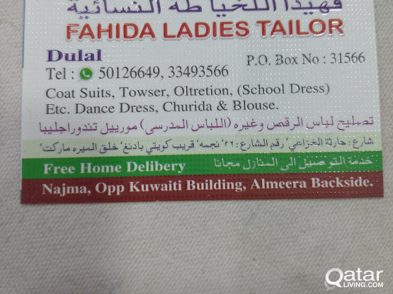 TAILOR service available for Male female oltretion