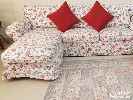 Ikea living room and footstool