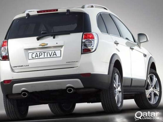 SEVEN SEATER CHEVROLET CAPTIVA FOR RENT ONLY 2400 QAR FOR CONTRACT  :- 50399150
