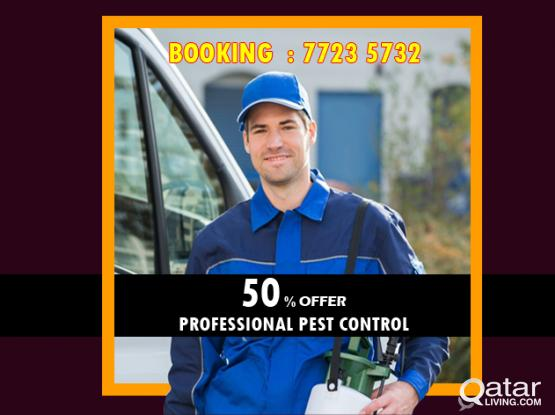 50% Offer - Professional Pest Control Service # Call /WhatsApp 77235732