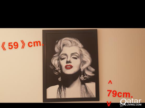 Marilyn Monroe art eye catcher!