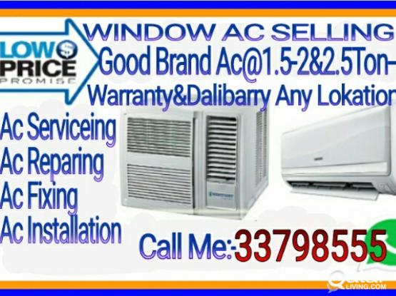 Buing and sell♦window ac1.5and 2ton with split ac♦good condition with warranty and installation ac..