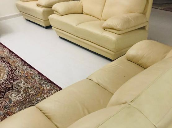 Genuine leather sofa 6 seater