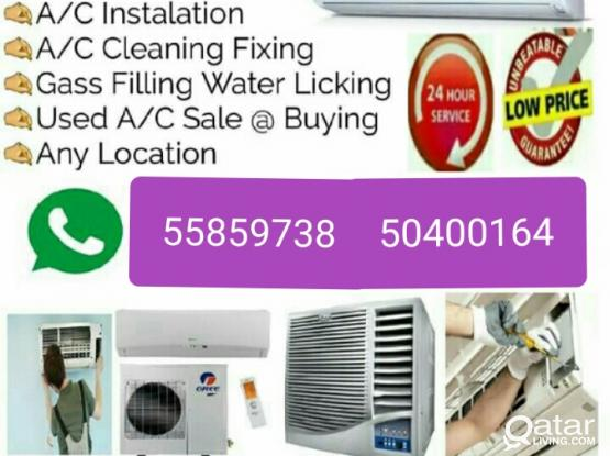 We do AC cleaning, servicing, repairing, fixing. Please call or whatsapp 55859738