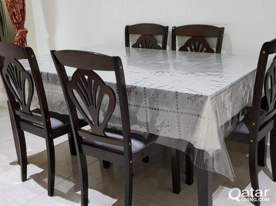 Dining Table (6 chairs) for SALE ( Almost New)