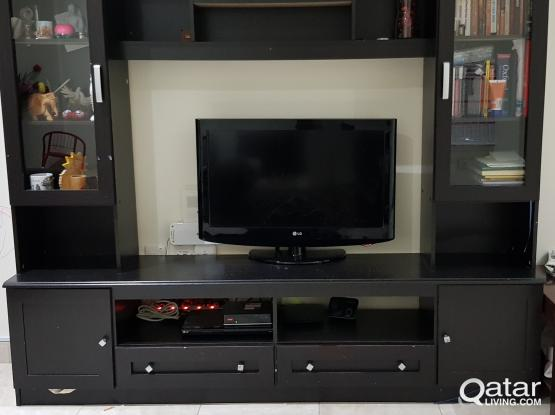 TV cabinet with shelves for SALE