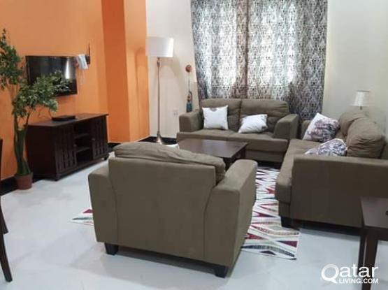 1 bhk fully furnished  all  including bill apartment  for family  in wakrah