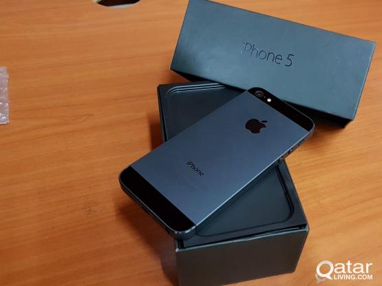 Iphone 5 64GB new  450qar