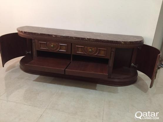 Tv table for sale with tv.soung system