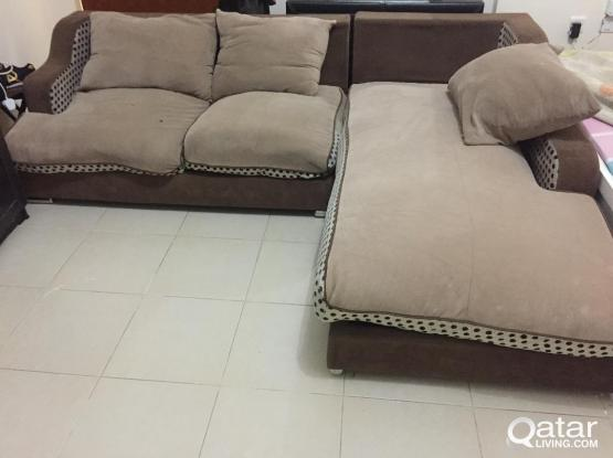 L shape+1 sofa chairs