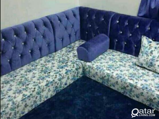 All types Sofa Repair qatar and Cloth Change Curtain fixing and making work.call.70089601