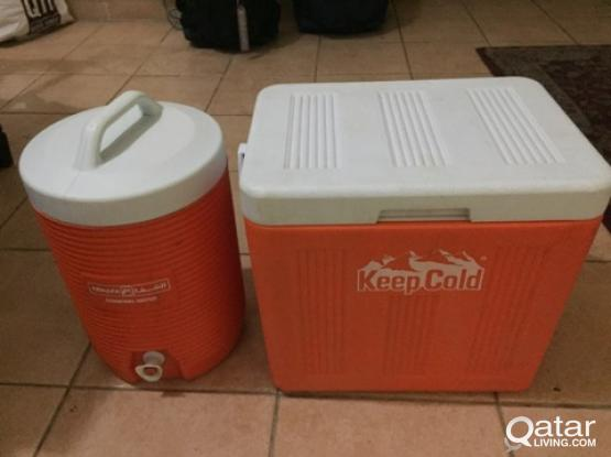 New Ice Box and Water Cooler Set - Beach Set