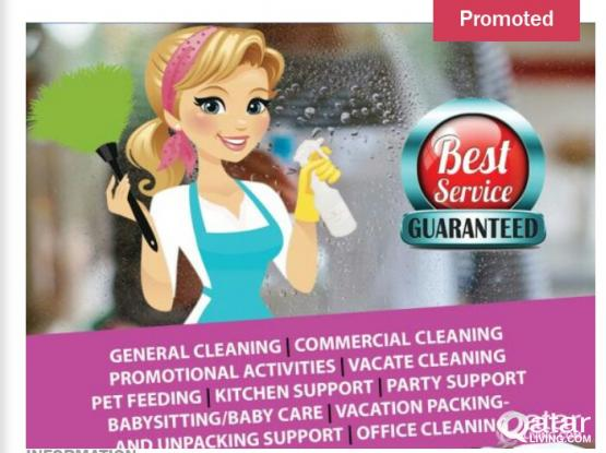 Female cleanar on part time basis