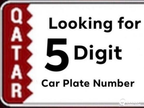 Wanted 5 Digit Plate Number